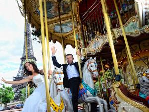 dış çekim düğün fotoğrafları paris