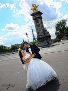 paris düğün fotoğraf örnekleri