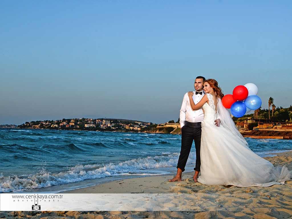 Alaçatı Kumsalda düğün orgabizasyonu