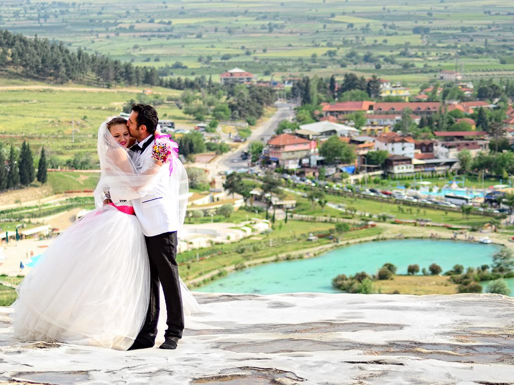 Pamukkale dış çekim düğün fotoğrafçısı